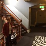 The stairway in the Pensione Hotel George St Melbourne.