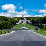 """""""The Punchbowl"""", National Memorial Cemetery of the Pacific entrance"""