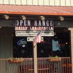 """This is the entrance for the Open Range. It's on the second floor of an outdoor """"mall"""" setup."""