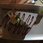 they surprised my parents with a dessert to help celebrate their anniversary!