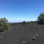 View out to sea towards mainland Italy from Etna