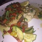 Steak de thon et risotto