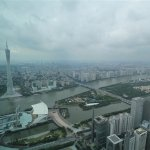 Deluxe Suite: View towards Ersha Island and Canton Tower.