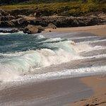 Surf breaking on Monastery Beach