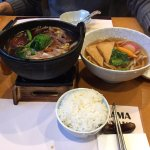 Kitsune Udon and small hot pot