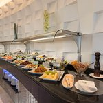 Enjoy the breakfast buffet in Silk Route Café