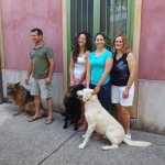 Genarro, Carmella, daughters and dogs