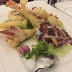 Scorfano fresco in tempura (squisito).