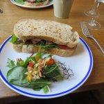 Beef and horseradish sandwich