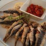 fritierte Sardinen