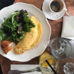 We had cheese omelets with fresh orange juice, croissant, salad, and expresso. Amazing!!!