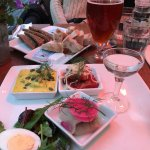 The menu includes lots of typical European food. I chose to go local and had herring 3 ways with