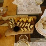 Wine and cheese at Tasting Table