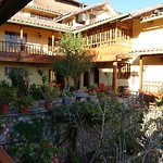 One of the lovely garden courtyards of the Amaru Hostal
