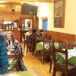 The breakfast room of the Amaru Hostal
