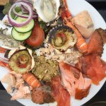 The exquisite seafood platter for two