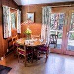 Dining area in Ponderosa Cabin