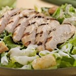 Caesar Salad with Grilled Chicken!  Yum!