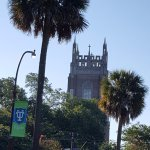 Tulane University with Loyola tower in the background. 2 min walk.