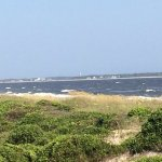 Looking north east from beach access. Old baldy lighthouse on Bald head island visible.