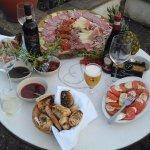 Selection of Italian antipasti!!