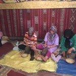 Local ladies making argon oil
