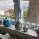 Teapots in the solarium