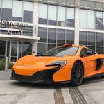 McLaren in front of Mahogany downtown.  Thanks for another great mean!