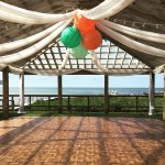 Covered dance floor and decor