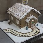 A gingerbread house for the seational event.