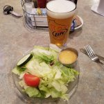 House Salad and Beer