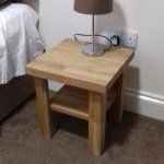 only bedside table with lamp