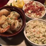 The shrimp with the bleu cheese slaw and bacon, bleu cheese mashed potatoes. Great shrimp and po