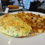 Amazing omelette!  Potatoes were great too!