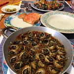 Escargot and grilled mixed seafood beyond description.   The most memorable meal of our trip to