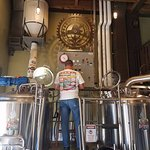 Our founder and head brewer hard at work