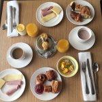 Notre table de petit déjeuner