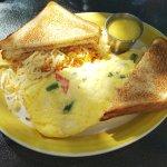 Crab & Asparagus Omelette - Hollandaise on the side