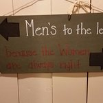 great bathroom sign! Women are always right!