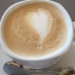 Coffee latte made with love at RBH