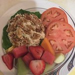 Chicken walnut salad, what a beautiful plate.