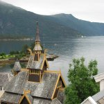 The Sognefjord from our Midtnes Hotel room, overlooking the English Church