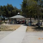 Campground community area.