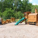 train themed play ground