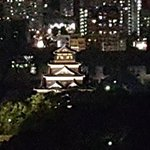 Hiroshima Castle at night. (Picture from my room)