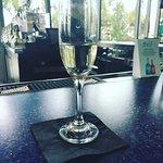 A glass of Moscato at the Aqua Bar...so good!