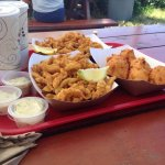 Fried Clam Platters and Corn Fritters