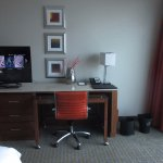 Desk and TV area