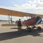 Second Sunday of the month: Classic airplanes on display.