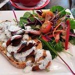 Pan Fried Chorizo and Tiger Prawns